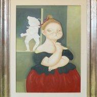 Il sogno di Garance   olio su tela  50x70   1993
