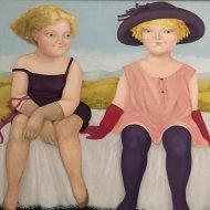 Le Confidenze di Floria olio su tela 70x85  1998