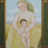 La grande madre -omaggio-a-picasso-50x70-2003