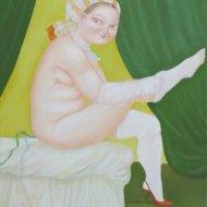 28-la-calza-bianca-olio-su-tela-50x60-2003