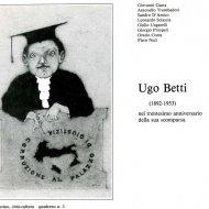 Copertina catalogo Ugo Betti 1983
