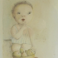 Acquerello + matita  1986