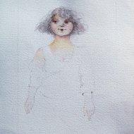 Floria    Acquerello con matita    2005