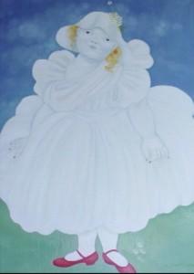 La sposa lunare olio su tela 50x70 - 2006