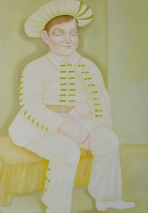 Brighella olio su tela 50x70 - 2010