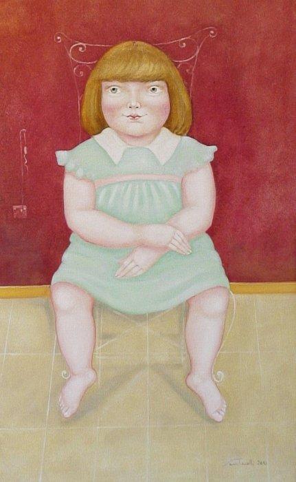 I pensieri della piccola Antonia olio su tela 50x80 - 2010